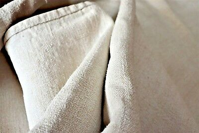 2 MATCHING large French antique WASHED home spun hemp textured SHEETS 4 projects
