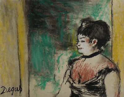 French musum original pastel portrait painting, Signed, Degas, Impressionist era