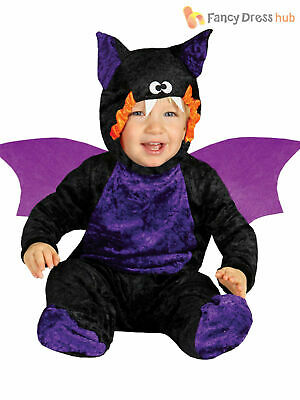 Baby Toddler Bat Jumpsuit Costume Childs Halloween Fancy Dress Kids Party Outfit