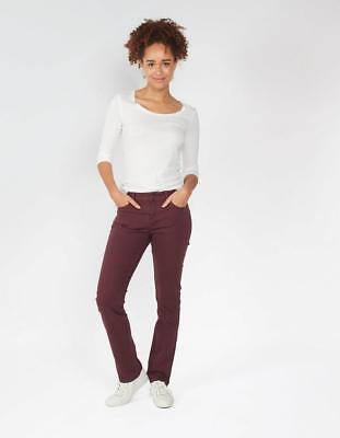 Fat Face Garment Dye Straight Jeans RRP £49.50 Size UK 18 Plum