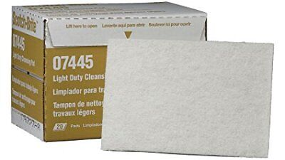 """3M Scotch-Brite Light duty Cleansing Pads P/N 7445 6""""x 9"""" / Boxes of 20"""