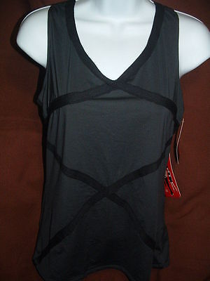 New Spanx Look Great It's A Cinch 1214 Blk  Hourglass Racerback Camisole/tank M