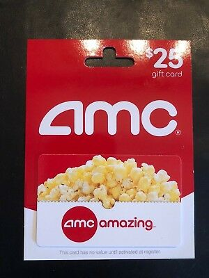 25 AMC Theatres Gift Card Can Be Used For Movies Concessions