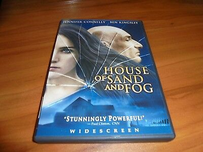 House of Sand and Fog (DVD Widescreen 2004) Ben Kingsley, Jennifer Connelly Used
