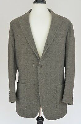 Cantarelli Light brown melange 3-button casual, unlined wool blazer 44R/L US
