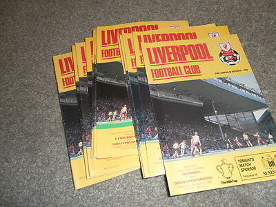 Liverpool Home Progrmmmes From 1985/6 Inc Cup And League Choose From List