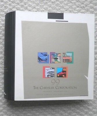 HUGE 1999 Chrysler Corp Press Kit Binder {Brochure Info}Plymouth,JEEP,Dodge,