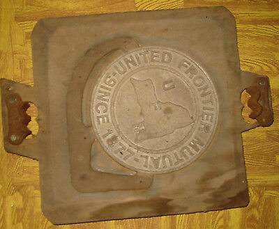 Sand casting Match plate Fire insurance Plaque United Frontier Mutual