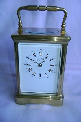 Vintage French L'epee Striking Carriage Clock Just Serviced In Gd Working Order