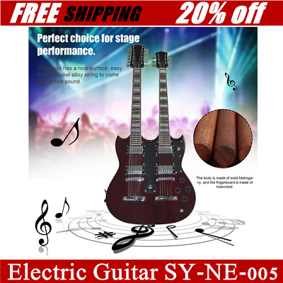 TSAI SY-NE-005 12 Strings Double Necks Electric Guitar with Double Coil PickupHZ
