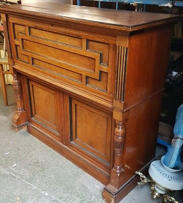 VICTORIAN WRITING BUREAU DESK CONVERTED FROM CHAPEL ORGAN walnut CAN DELIVER