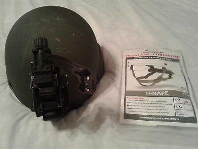 Gently Used Ach Msa Ballistic Helmet Size Medium W/new Opscore Chinstrap & Norot