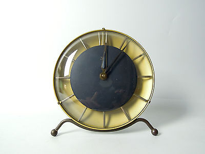 LATER ART DECO ZENTRA DESK MANTLE CLOCK BAUHAUS MID CENTURY MODERNIST 40s 50s