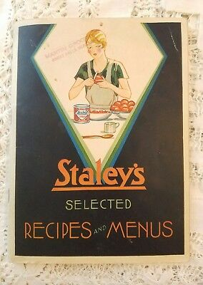 Vintage Staley's Selected Recipes And Menus Booklet! 30's? Very Art Deco Look!!