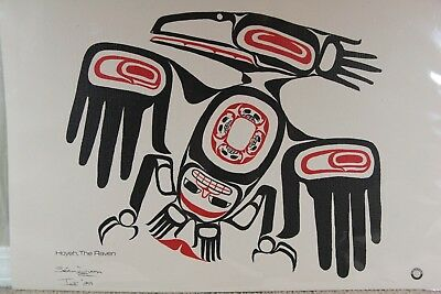 Native Canadian Lg Painting Original Haida, The Raven