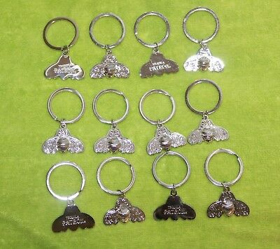 12 Patron Tequila Silver Tone, Signature Bee 3D Keychain / Keyring NEW DOZ