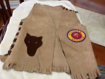 YMCA Y-Indian Guides Father & Son Pals Forever Suede Vest.