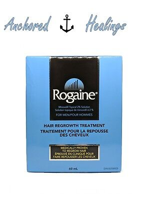 Rogaine for Men Hair Regrowth Treatment Minoxidil Topical 2% Solution 60mL