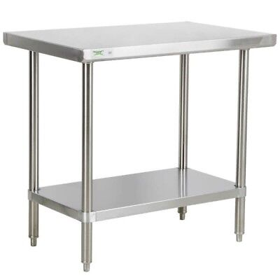 X Stainless Steel Commercial Open Base Prep Table - 16 gauge stainless steel work table