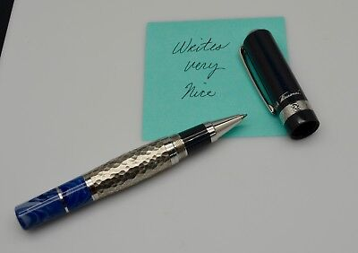 """Mont Blanc """"Leo Tolstoy"""" Limited Edition Rollerball Pen Gray & Marble Blue"""