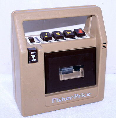 Vtg Fisher-Price Tape Recorder Player Brown #826 1980 Portable Cassette Works