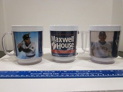 Vtg Milwaukee Brewers Baseball Maxwell House Coffee Cups, Yount, Molitor, Cooper