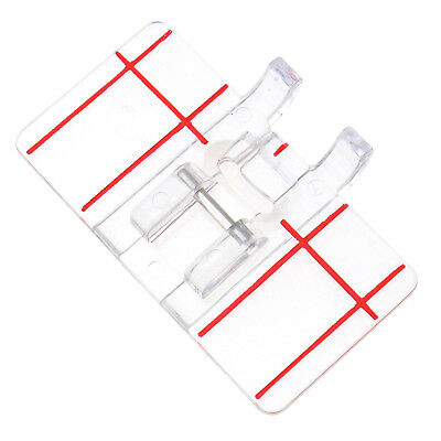 Universal Clear Parallel Stitch Foot Presser Domestic Sewing Machine Accessory