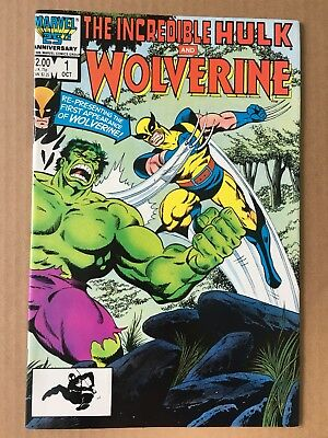 Incredible Hulk and Wolverine #1 (Oct 1986, Marvel) NM (9.4) 1st. Print !!!!!!!!