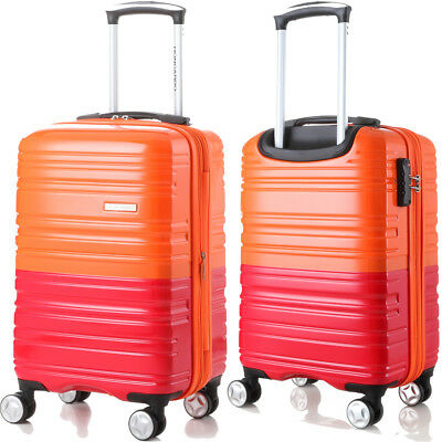 ECO Rolling Luggage Spinner Travel Set Bag ABS Trolley Suitcase Lock 4 Wheels