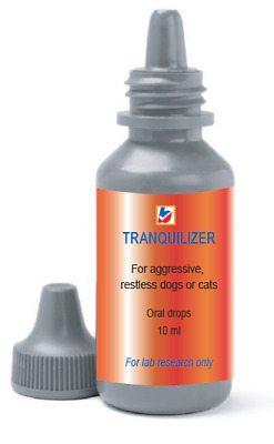 Animal tranquilizer for sedation of restless/aggressive dogs, cats in transport