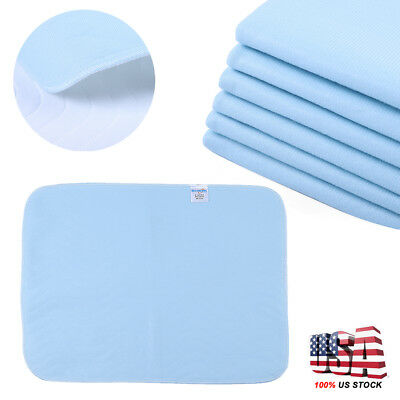 6 Reusable New Bed Pads Underpad Grade Incontinence Washable 45x60cm Waterproof