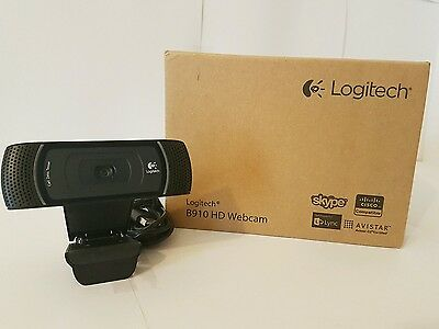 Boxed Logitech B910 HD Webcam USB 2.0 1280 x 720 Video Resolution