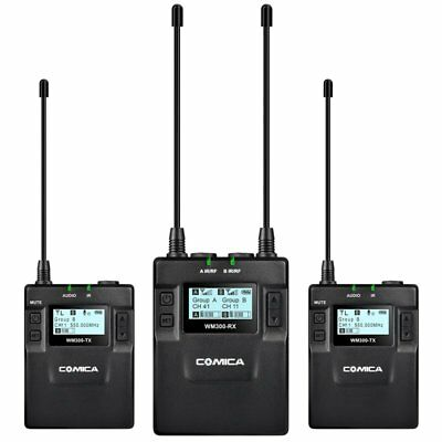 COMICA CVM-WM300 UHF 96-channels Wireless Microphone Transmitter Receiver