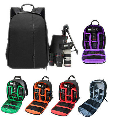 Waterproof DSLR Digital Camera Bag Backpack Rucksack For Canon Nikon Sony Lens Y