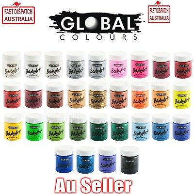 30+ Colours Global Body Art 45Ml Face And Body Paint Party Costume Halloween