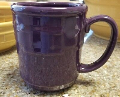 Longaberger WT Pottery 12 oz Coffee Mug - Eggplant Purple (2 available)