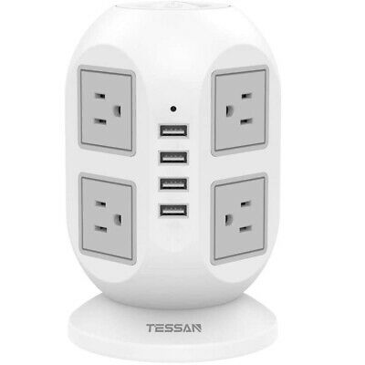 TESSAN Surge Protector Power Strip 4 USB Port and 8 AC Outlets 10ft Long Cord