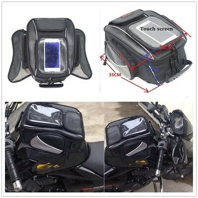 35*30*17 cm Motorcycle Oil Fuel Tank Bag With Touch Screen Moto Accessory