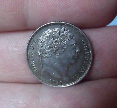 1817 George III Milled Silver Sixpence, EF.     collectable.            142/81
