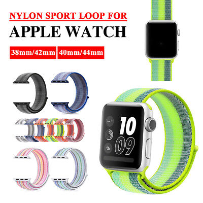 38/42mm Nylon Stripe iWatch Band Sport Strap Replacement for Apple Watch 4 3 2 1