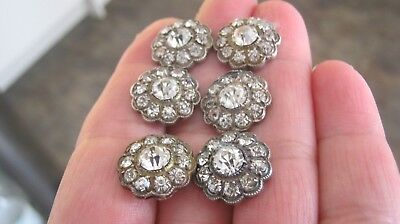 Georgian - Early Victorian Set Of 6 Silver Paste Buttons