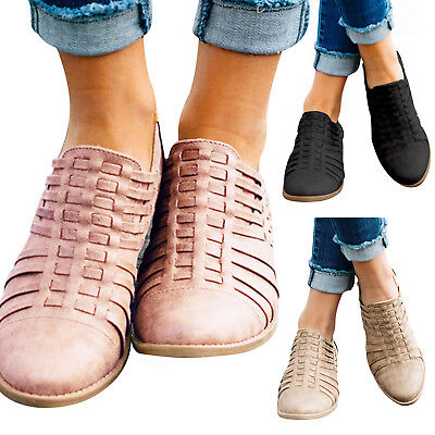 Fashion Women Block Low Heel Zipper Boots Pointed Toe Casual Ankle Booties Shoes