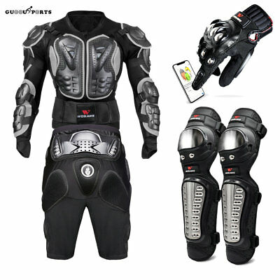 Motorcycle Armor Jacket Body Back Shoulder Protector knee Pad gloves Supports
