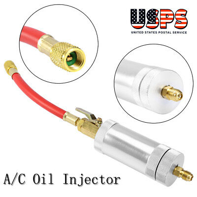 Car A/C Oil & Dye Injector+Low R12 / R134A Quick Coupler Injection Adapter Kit