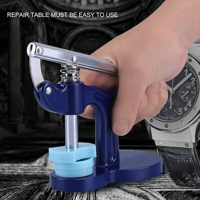 Watch Back Case Closer Presser Repair Crystal Glass Fitting Watchmaker Tool Set