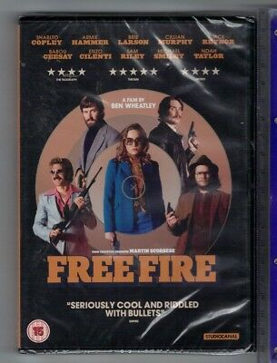 Free Fire (Brie Larson) Brand New Sealed Dv (5055201837769)