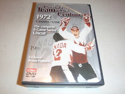 Canada's Team of the Century 1972, Canada vs USSR, Complete 8 Game Series 4 DVDs