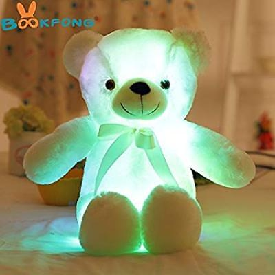 50cm Creative Light Up LED Teddy Bear Stuffed Animals Plush Toy Colorful
