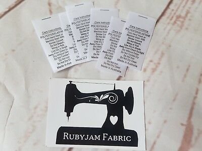 25 pack white Poly Elastane Lycra satin care labels sew in FREE POSTAGE in AU