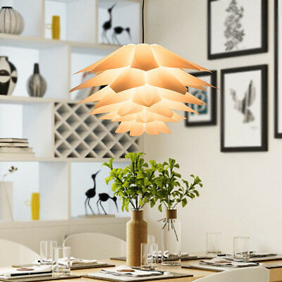 7 Color Lotus Pendant Chandelier Jigsaw Lamp Hanging Light Ceiling Lampshade DIY